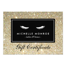 Eyelashes with Gold Glitter Gift Certificate