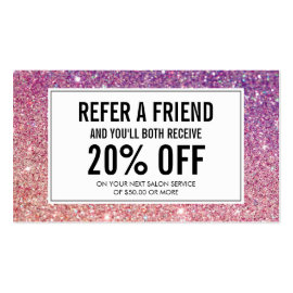 Eyelashes with Purple/Pink Glitter Salon Referral