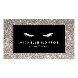 Eyelashes with Silver Glitter Business Card