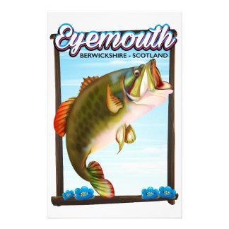Eyemouth,Berwickshire Scotland fishing print. Stationery