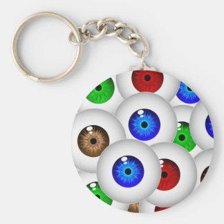 Eyes Galore Key ring Basic Round Button Keychain