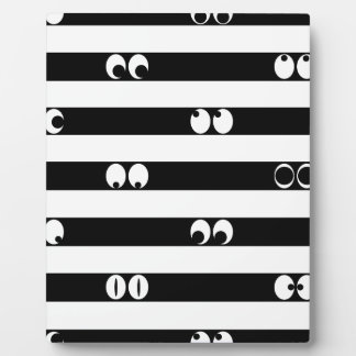 Eyes in Stripes Plaque