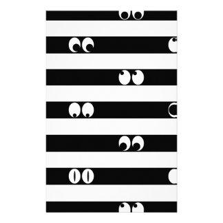 Eyes in Stripes Stationery