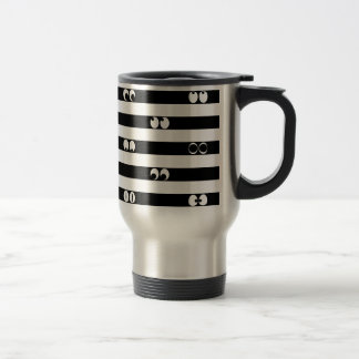 Eyes in Stripes Travel Mug