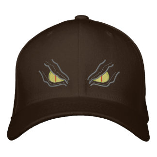 Eyes in the dark embroidered hats