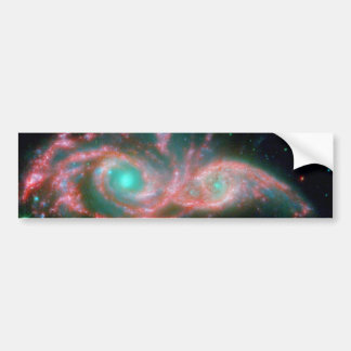 Eyes in the sky NGC 2207 NASA Bumper Sticker