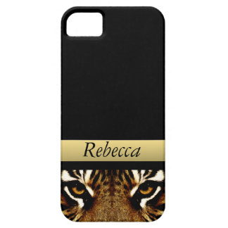 Eyes of a Tiger Personalized iPhone 5 Cover