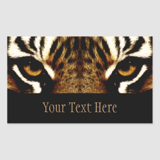 Eyes of a Tiger Personalized Sticker