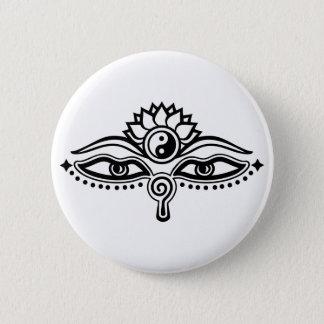 Eyes of Buddha, Yin Yang, Wisdom & Enlightenment 2 Inch Round Button