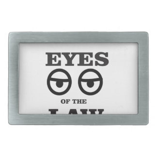 eyes of the law yeah rectangular belt buckle