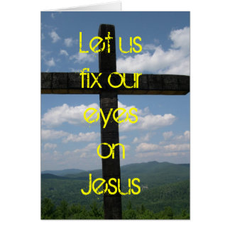 Eyes on Jesus Easter Card