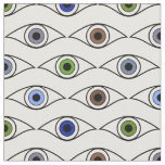 Eyes Pattern in Brown, Blue, Green, Grey, Violet Fabric