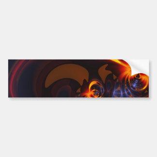 Eyes & Swirls – Amber & Indigo Delight Bumper Sticker