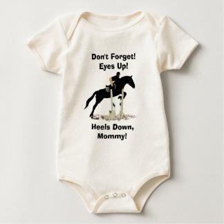 Eyes Up! Heels Down! Horse Jumper Baby Bodysuit