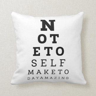 Eyesight Test Note To Self Make Today Amazing Throw Pillow