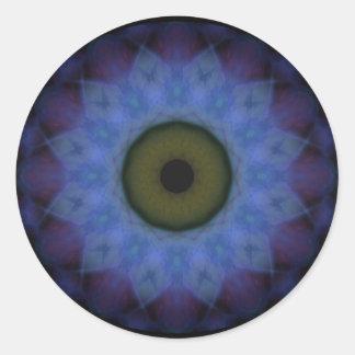 Eyesore Violet Blue Evil Eye Classic Round Sticker