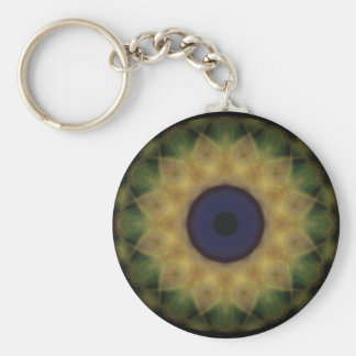 Eyesore Yellow Evil Eye Basic Round Button Keychain