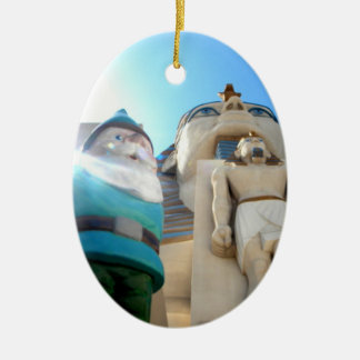 Eygpt Gnome Ceramic Oval Ornament