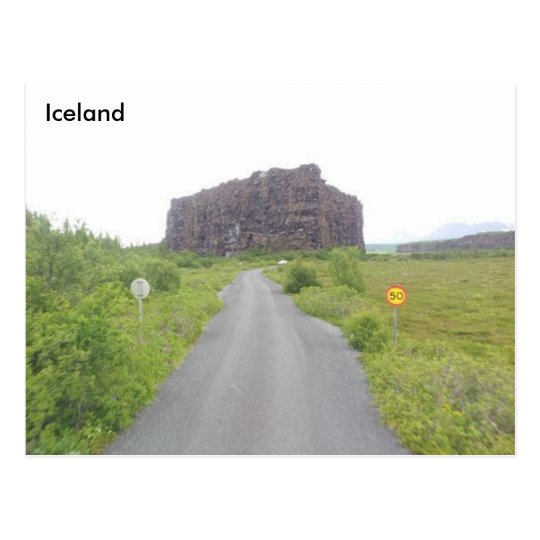 Eyjan, Ásbyrgi, North of Iceland Postcard