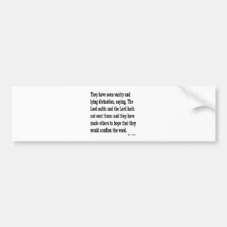 Ez. 13:6 bumper sticker