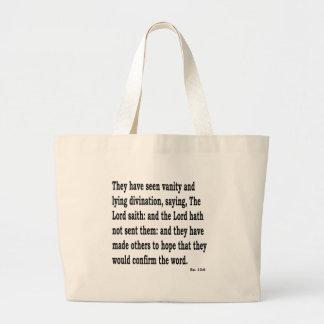 Ez. 13:6 large tote bag