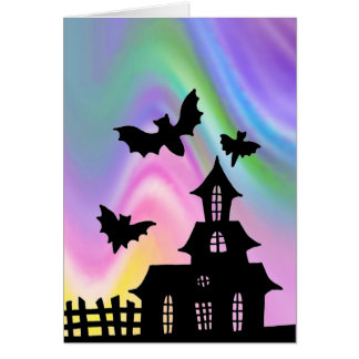 EZ Doodle art lesson Halloween Haunted House Card