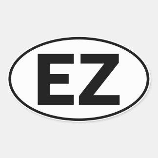 EZ Oval Identity Sign Oval Sticker