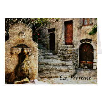 Eze, Provence greeting card