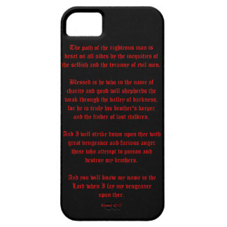 Ezekial 25:17 Black and Red iPhone 5 Covers