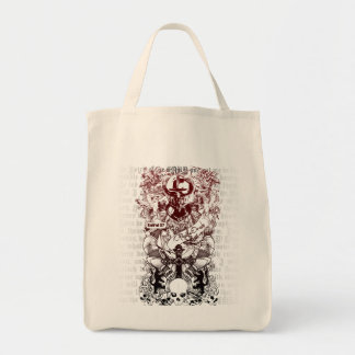 Ezekiel 37 grocery tote bag
