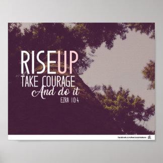 Ezra 10:4 - Rise Up Poster