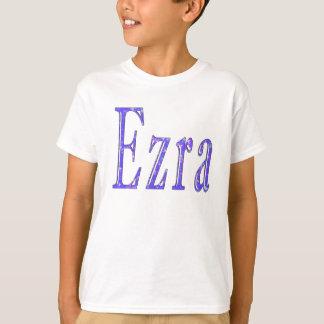Ezra,_Name,_Logo,_Boys White T-shirt. T-Shirt