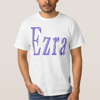 Ezra,_Name,_Logo,_Mens White T-shirt. T-Shirt
