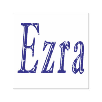 Ezra Name Logo, Self-inking Stamp