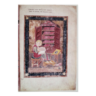 Ezra writing the sacred books poster
