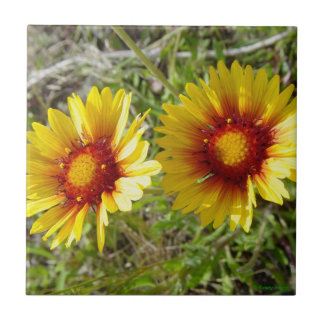 F0008 Yellow Wildflowers Tile