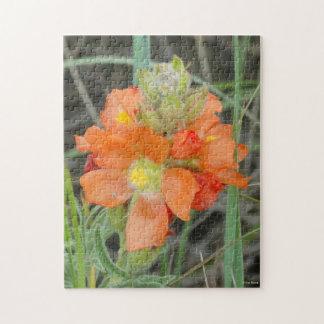 F0040 Orange Wildflowers Scarlet Mallow Puzzles