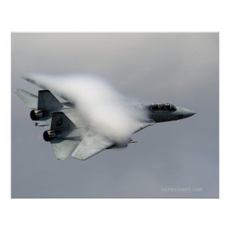 F14 in High Speed Pass Poster