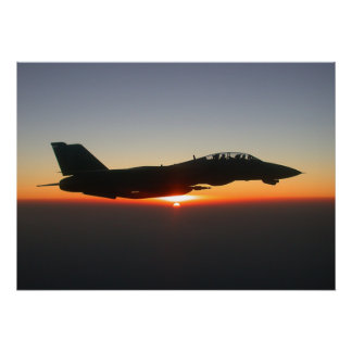 F14 Tomcat Fighter Jet Afghanistan Large Canvas Poster