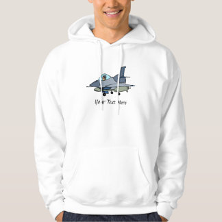 F16 Falcon And Pilot Cartoon Design Hoodie