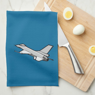 F16 Fighting Falcon Fighter Jet In Flight Kitchen Towel
