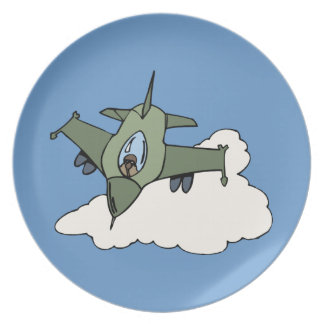 F16 Fighting Falcon Fighter Jet In Flight Party Plates