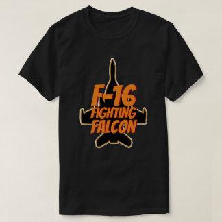 F16 Fighting Falcon Orange Text T-Shirt