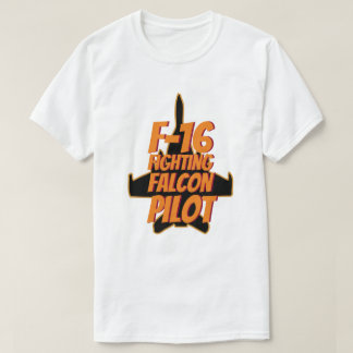 F16 Fighting Falcon Pilot Orange Flame T-Shirt