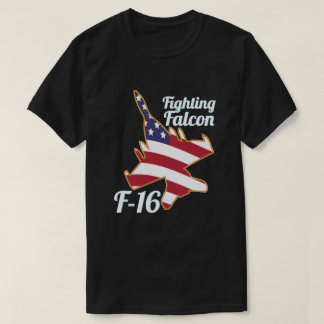 F16 Fighting Falcon US Flag America T-Shirt