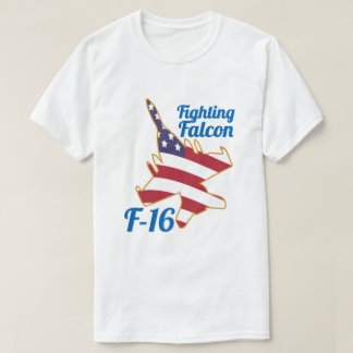 F16 Fighting Falcon US Flag Electric Jet T-Shirt