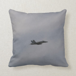 F18 Hornet Fighter Jet In Flight Throw Pillow