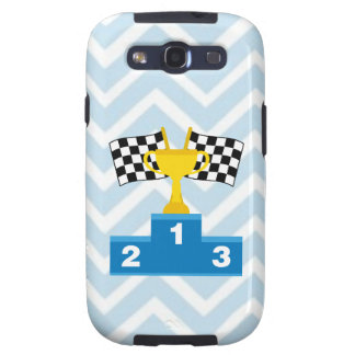 F1 Car Racing Flags Trophy and Ranking on Chevron Galaxy SIII Covers