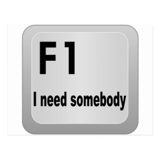 F1 I need somebody Postcard