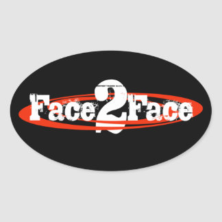 F2F Oval Sticker
